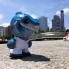 Santos FC Mascote de Biscuit