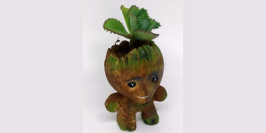 Baby Groot Miniatura Artesanato