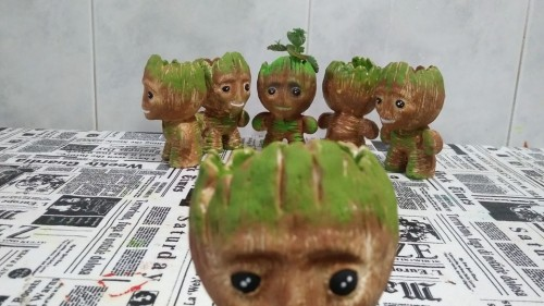 Baby Groot Miniatura - Casa Arte Artesanato 1