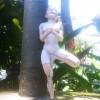 Yoga Estatua Pose da Arvore - Casa Arte Artesanato